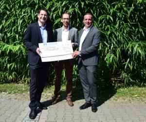 Volksbank spendet dem Gymnasium 1000,-€ für finanzielle Bildung